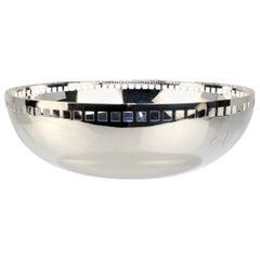 Postmodern Silver Plate Skyscraper Fruit Bowl by Richard Meier