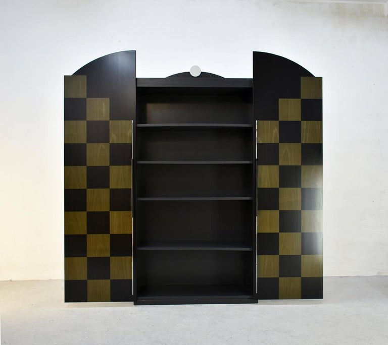 Postmodern Architectural Cabinet 'Cubic' by Peter Maly, Germany, 1980s In Good Condition For Sale In Zagreb, HR
