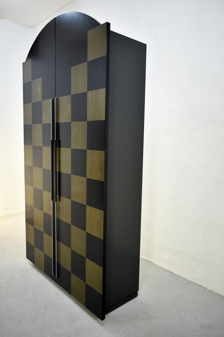 20th Century Postmodern Architectural Cabinet 'Cubic' by Peter Maly, Germany, 1980s For Sale