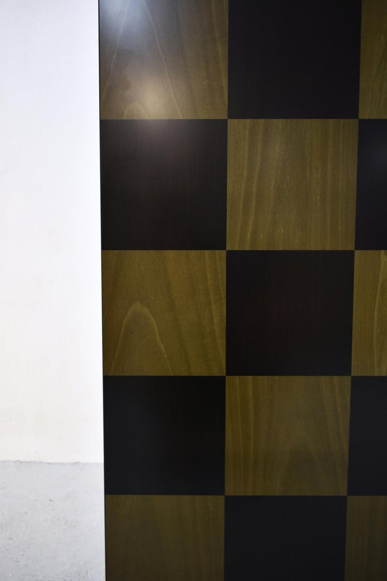 Wood Postmodern Architectural Cabinet 'Cubic' by Peter Maly, Germany, 1980s For Sale