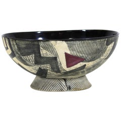 Postmodern Art Studio Ceramic Bowl