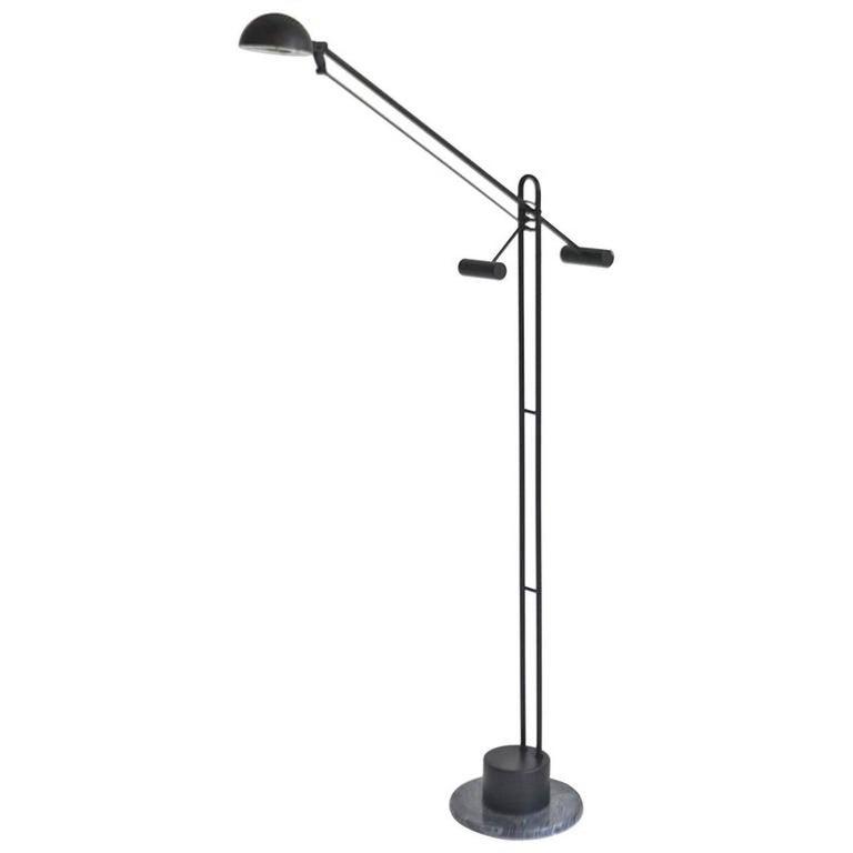 Postmodern Articulated Crane Form Floor Lamp