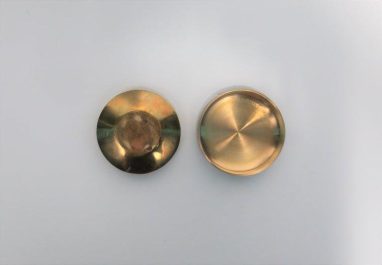 Postmodern 'ASPIRIN' Brass Pill Box, ca. 1970s For Sale 4