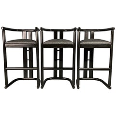 Postmodern Bar Stools a Set of Three in the Style of Pierre Cardin