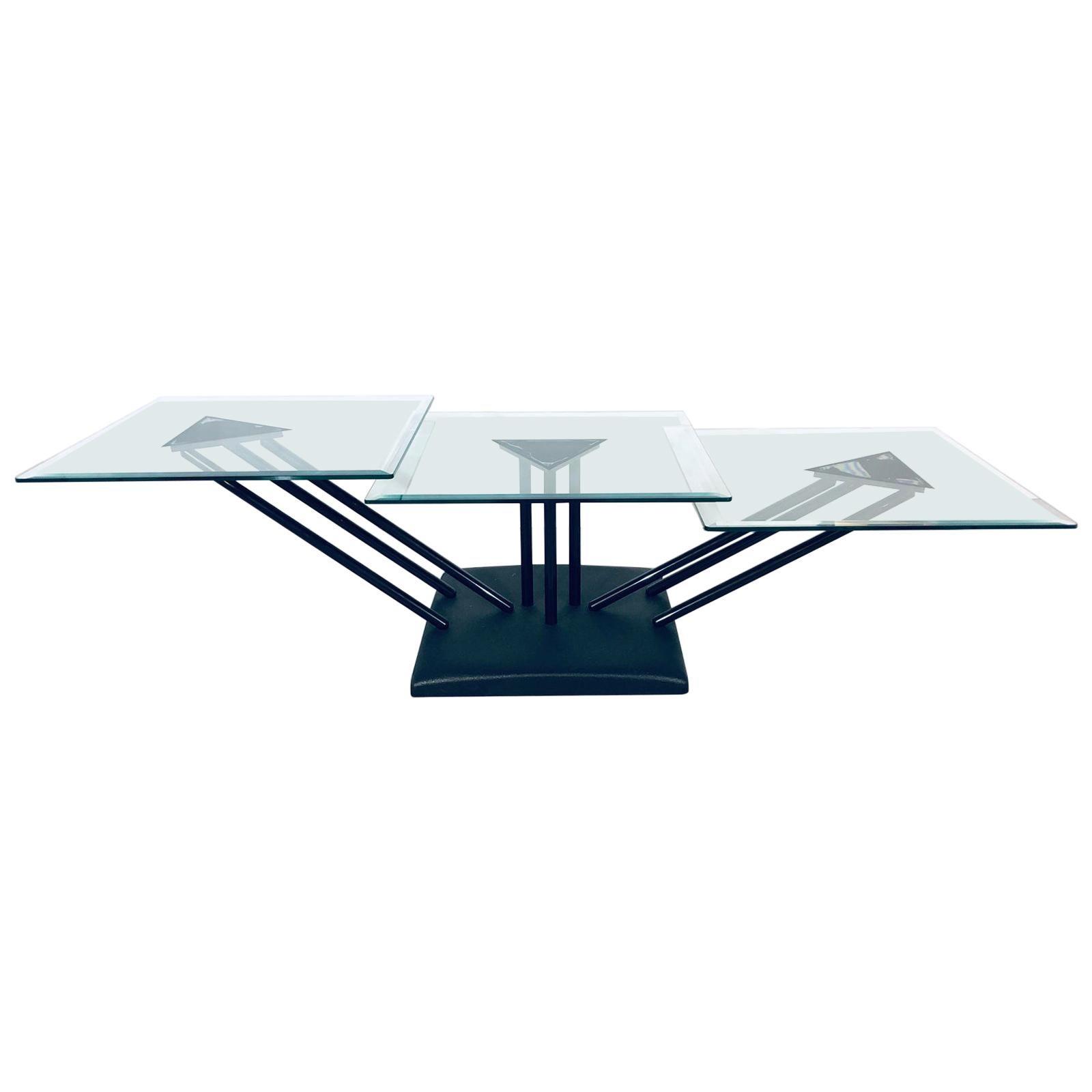Postmodern Bellato Adjustable Coffee Table, 1980s