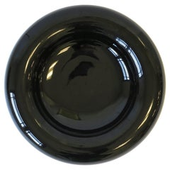 Postmodern Black High-Gloss Ceramic Bowl, 1980s
