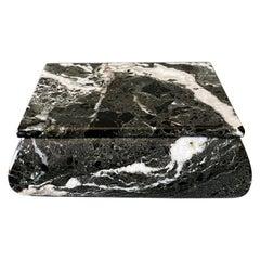 Postmodern Black Marble Box, circa 1980