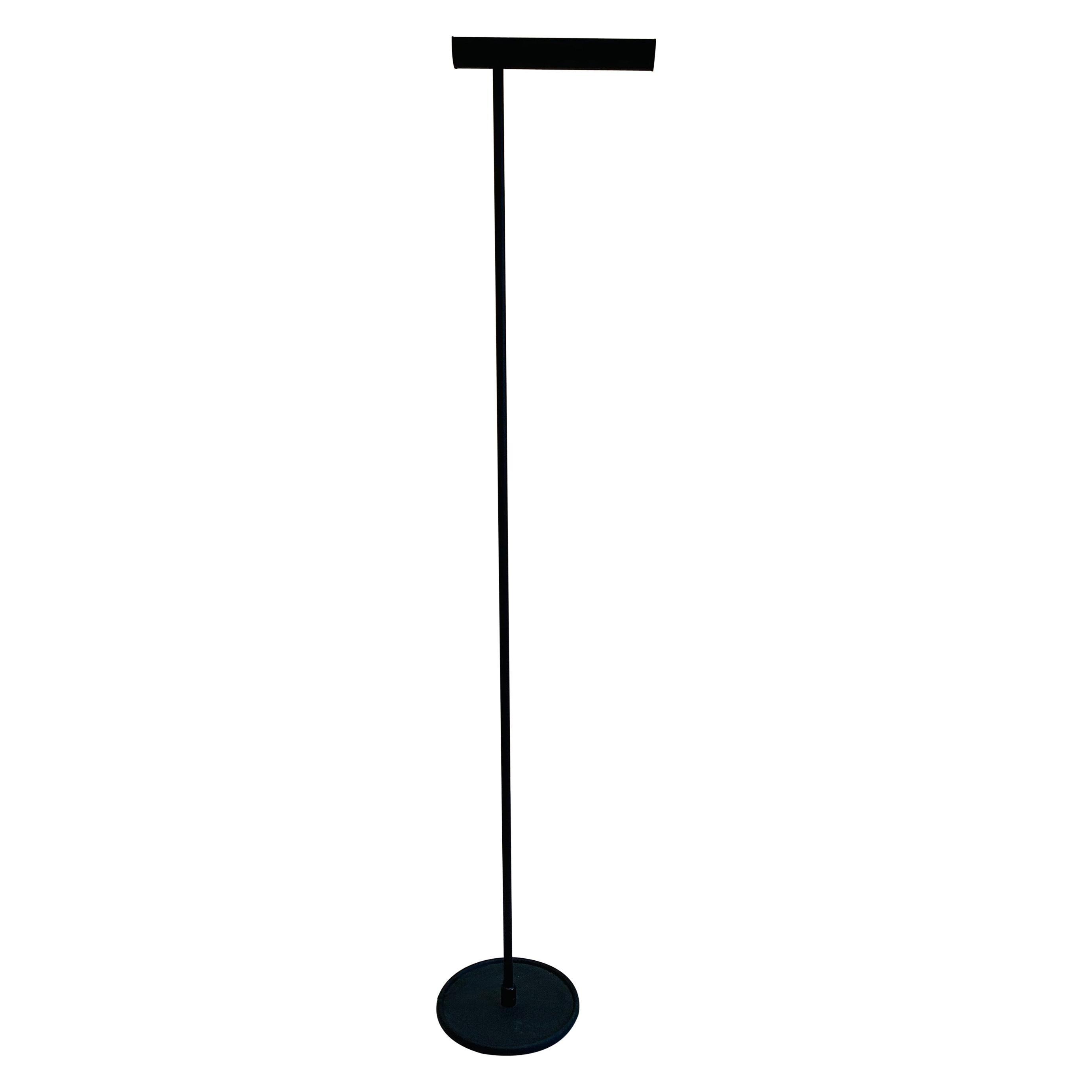 Postmodern Black Torchère Floor Lamp by Koch & Lowy