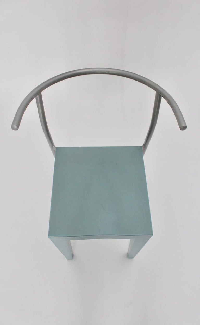 Post-Modern Postmodern Blue Vintage Chair by Philippe Starck 1980s for Kartell Italy For Sale