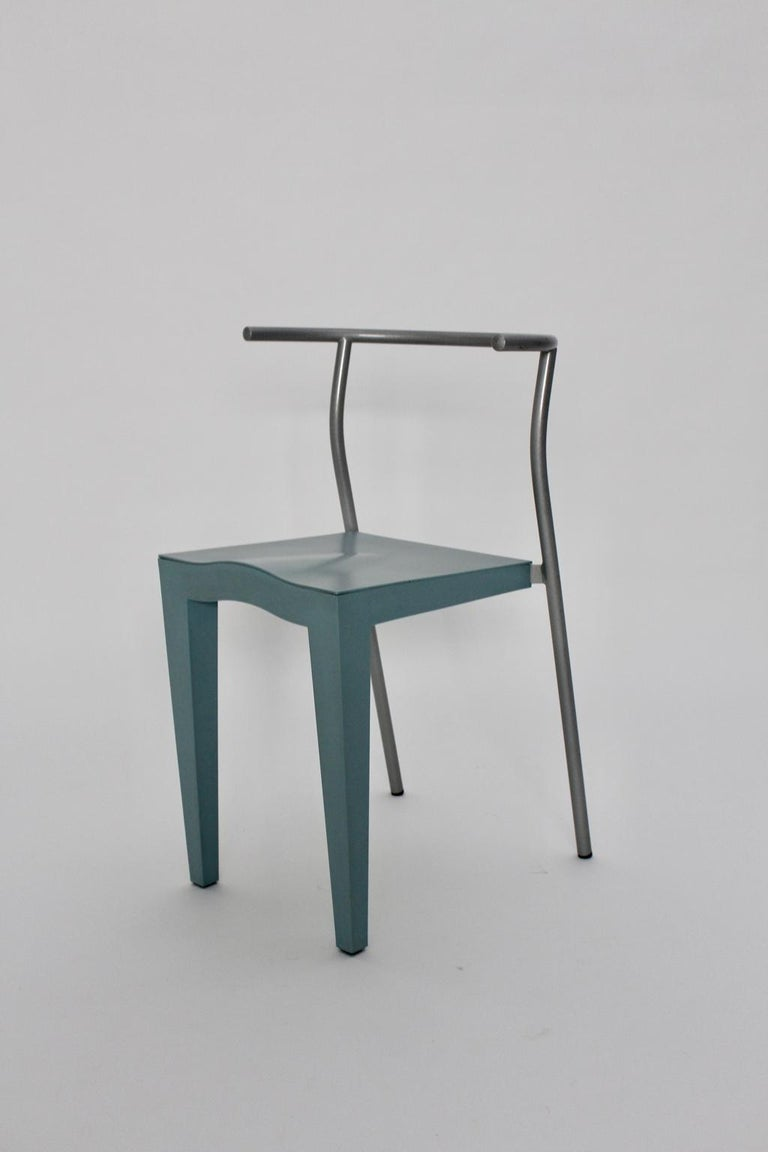 Italian Postmodern Blue Vintage Chair by Philippe Starck 1980s for Kartell Italy For Sale