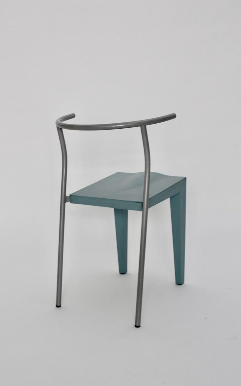 Late 20th Century Postmodern Blue Vintage Chair by Philippe Starck 1980s for Kartell Italy For Sale