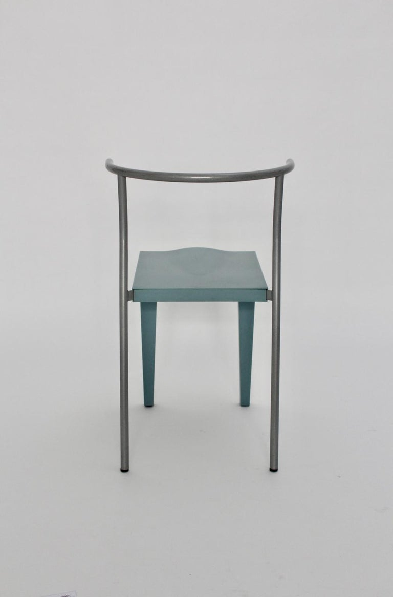 Plastic Postmodern Blue Vintage Chair by Philippe Starck 1980s for Kartell Italy For Sale