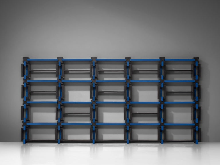 Post-Modern Postmodern Bookcase, Attributed to Michele De Lucchi For Sale