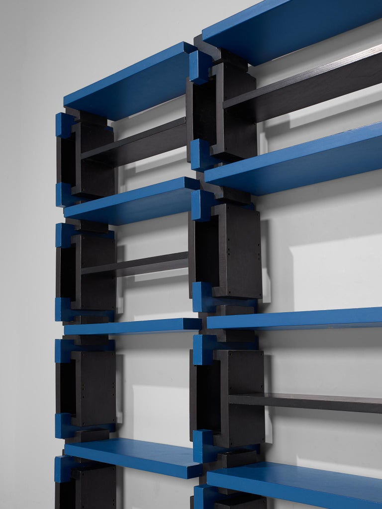 Wood Postmodern Bookcase, Attributed to Michele De Lucchi For Sale