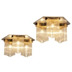 Postmodern Ceiling Lights in Metal and Glass