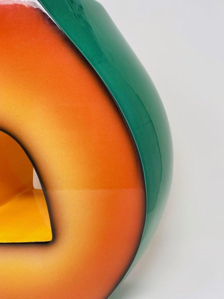 Hand-Crafted Postmodern Ceramic Fred Stodder Architectural Vase