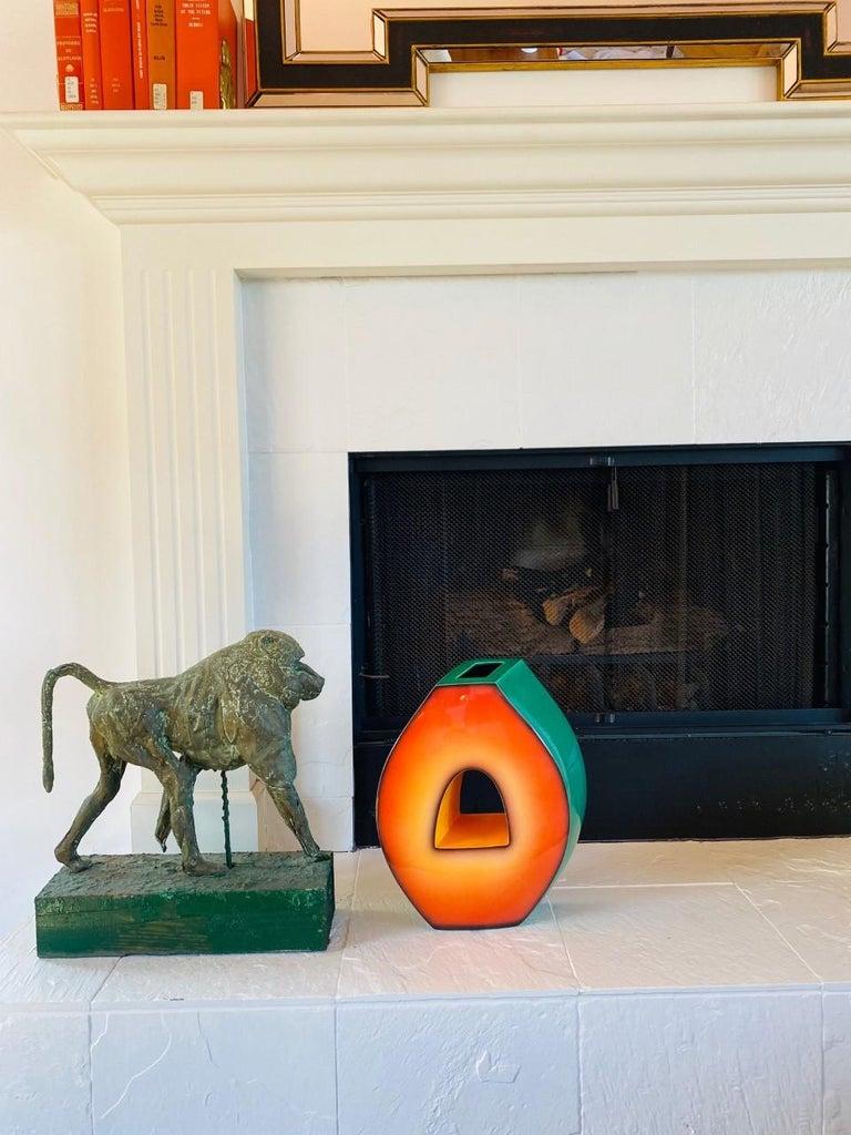 Postmodern Ceramic Fred Stodder Architectural Vase 1