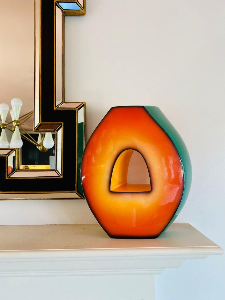 Postmodern Ceramic Fred Stodder Architectural Vase 2