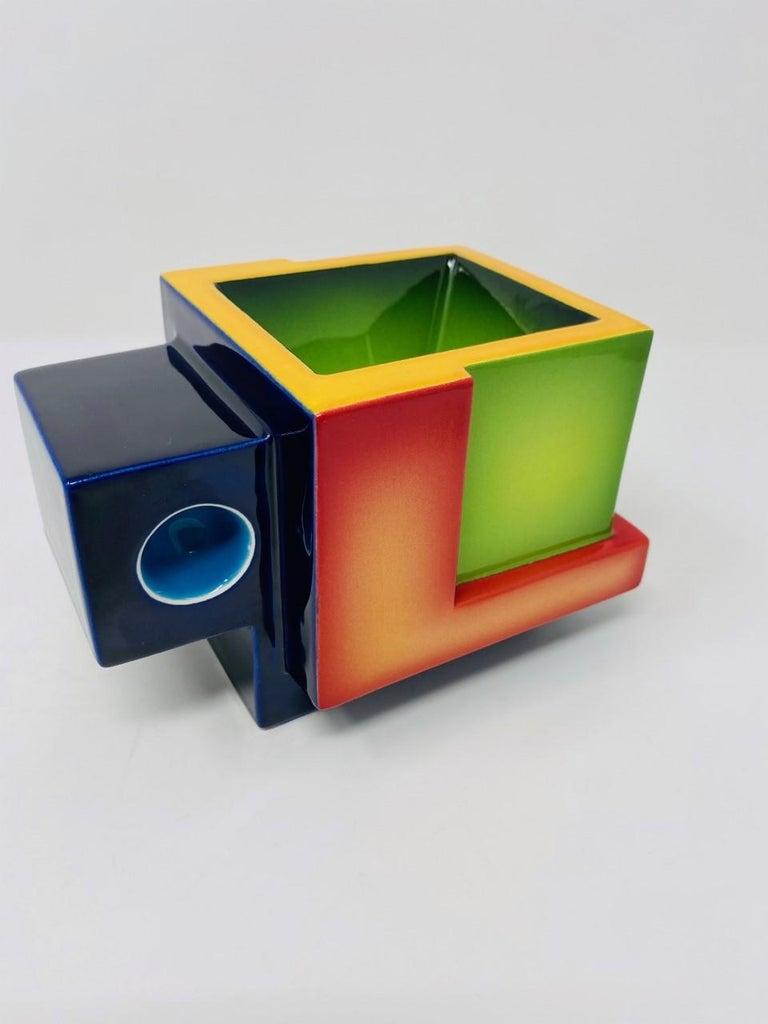 Postmodern Ceramic Fred Stodder Geometric Mug 4