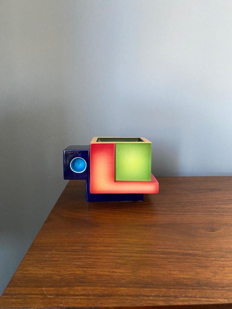 Post-Modern Postmodern Ceramic Fred Stodder Geometric Mug