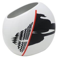 Postmodern Ceramic Vase by Fujimori for Kato Kogei