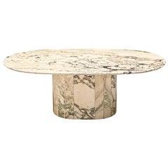 Postmodern Coffee Table in Marble