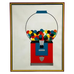 Postmodern Colorful Signed and Dated Serigraph by Lee R Lerfald
