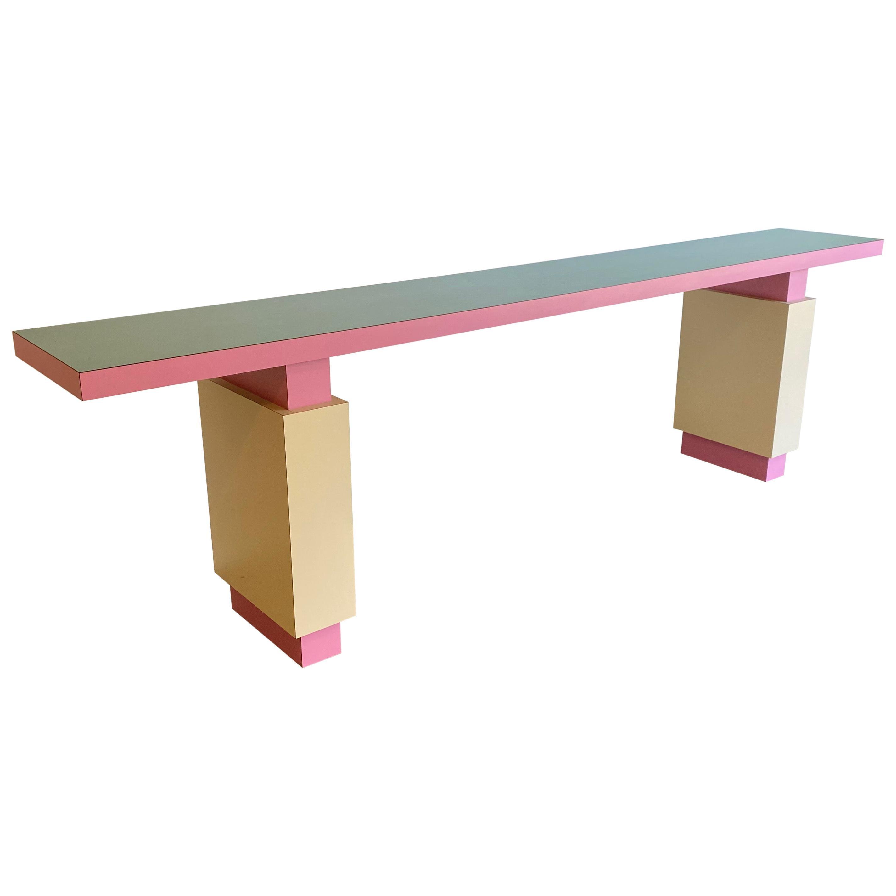 Postmodern Console Sofa Table Custom Made