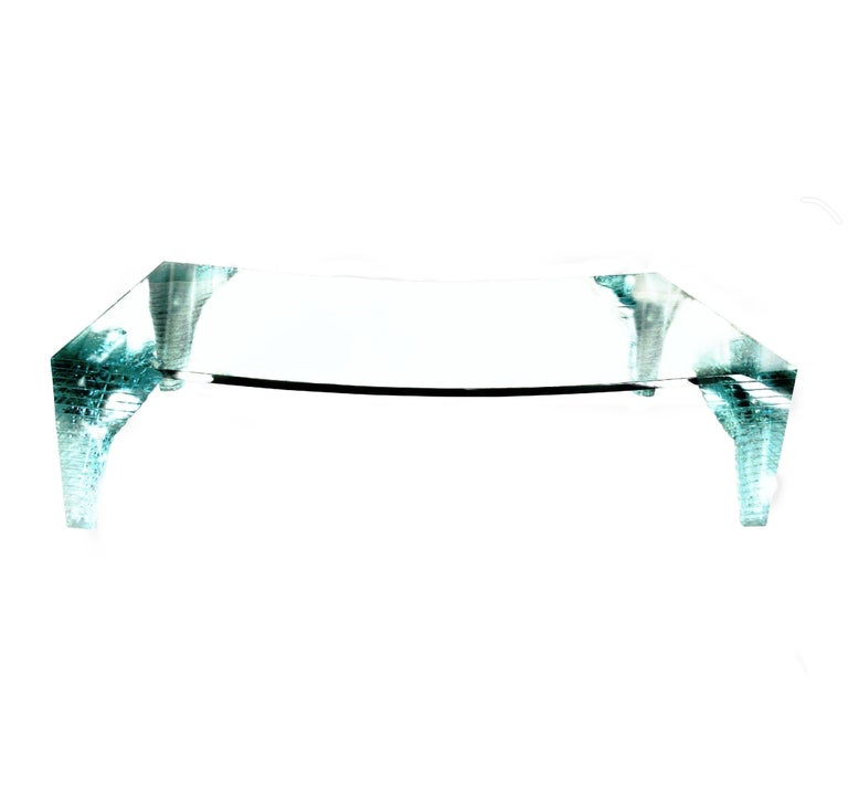 Italian Postmodern Crystalline Custom Iceberg Coffee Table by Giorgio Saporiti, 1970s For Sale