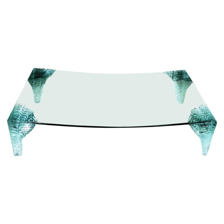 Postmodern Crystalline Custom Iceberg Coffee Table by Giorgio Saporiti, 1970s For Sale