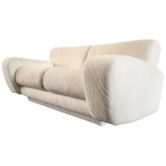 Postmodern Deco Styled Loveseat Sofa