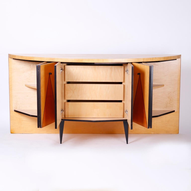 20th Century Postmodern Demilune Credenza or Cabinet For Sale