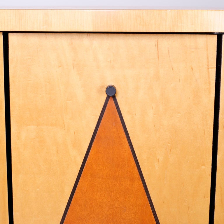 Postmodern Demilune Credenza or Cabinet For Sale 3