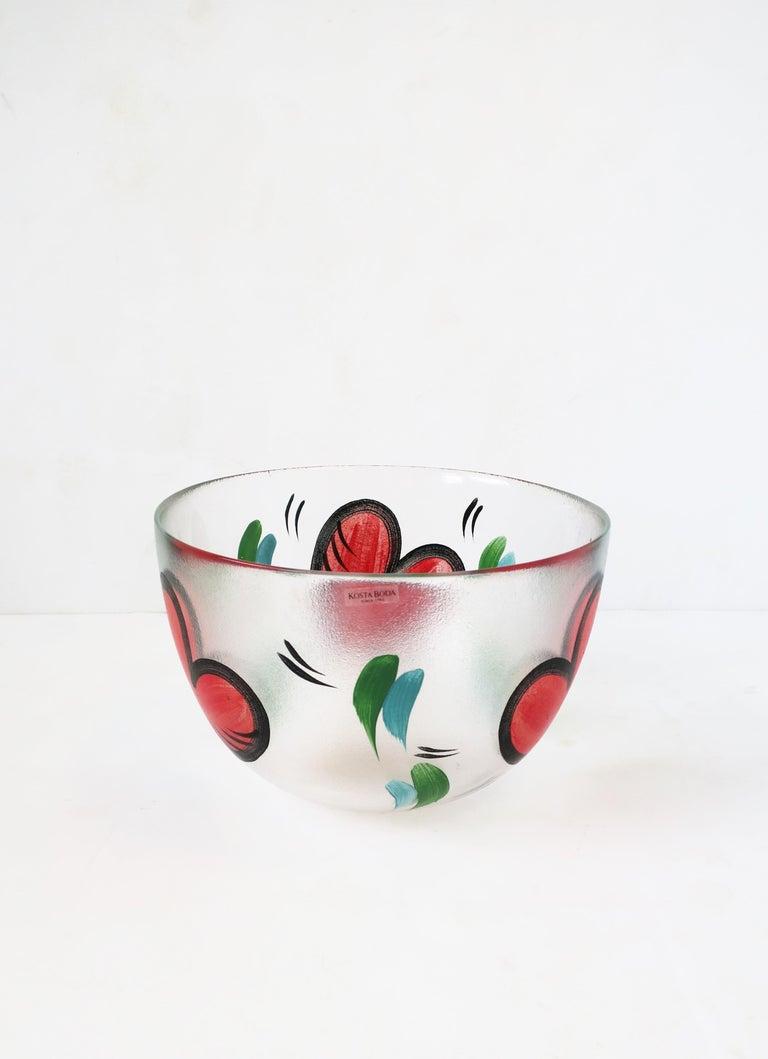 Postmodern Designer Bowl Hearts by Artist Ulrica Hydman-Vallien for Kosta Boda 3