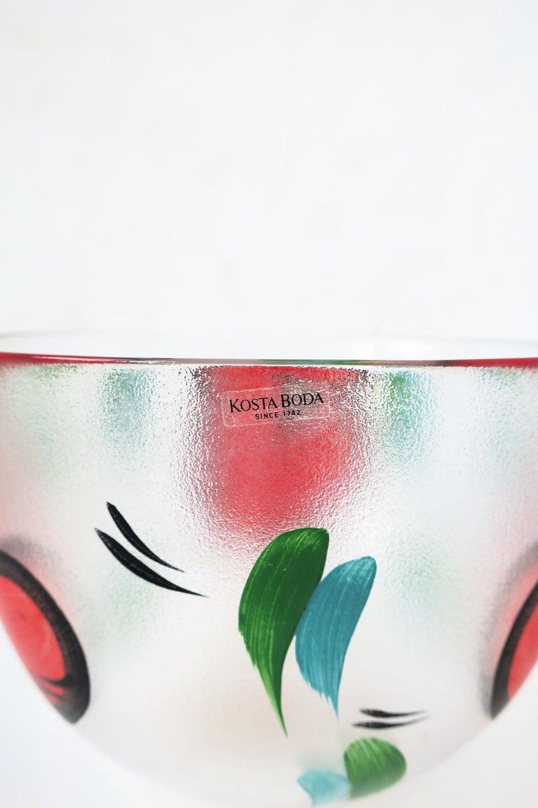 Postmodern Designer Bowl Hearts by Artist Ulrica Hydman-Vallien for Kosta Boda 4