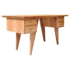 Postmodern Desk, Handcrafted One-Off English Walnut