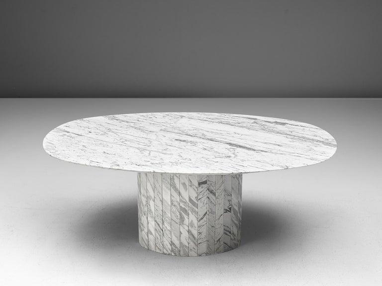 German Postmodern Dining Table in Marble For Sale