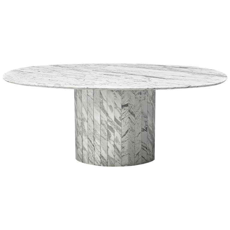 Postmodern Dining Table in Marble For Sale