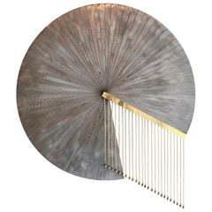 Postmodern Fanned Steel Wall Sculpture