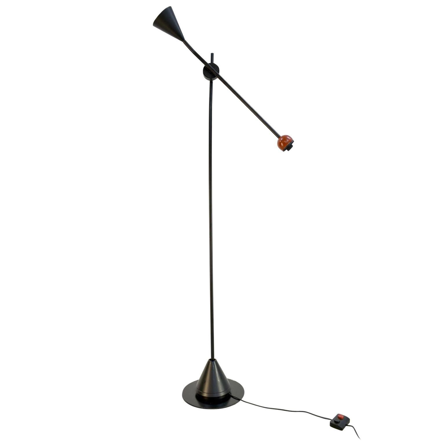 Postmodern Floor Lamp 'Ettore' by Ernesto Gizmondi for Artemide, Italy, 1980s