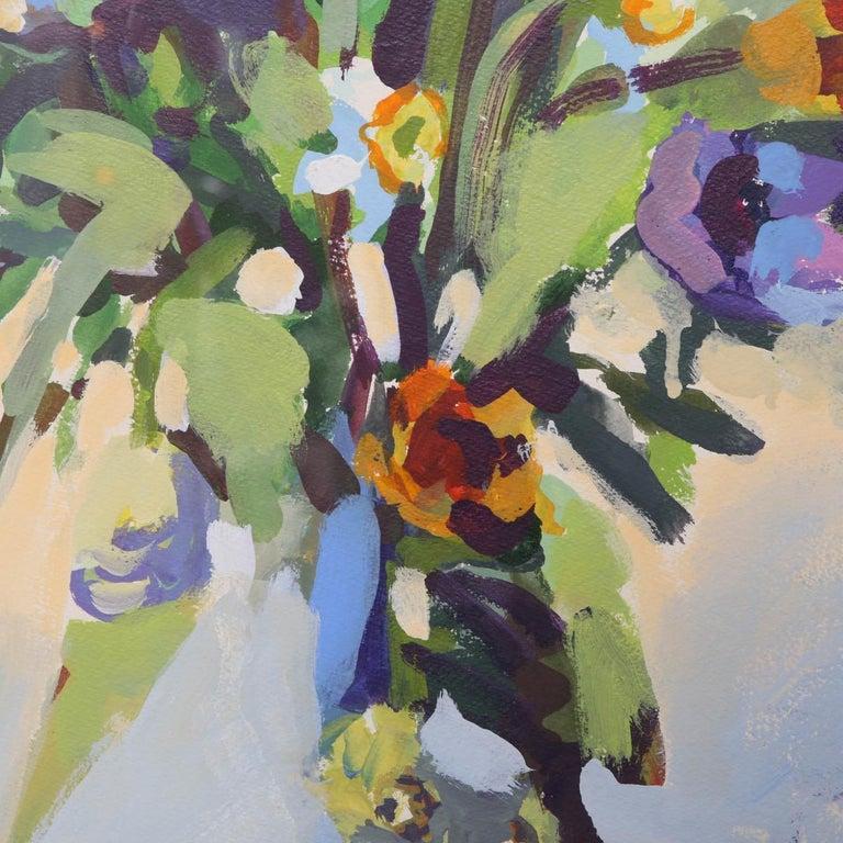 Post-Modern Postmodern Framed Still Life of a Floral Arrangement Signed T. Dooley For Sale