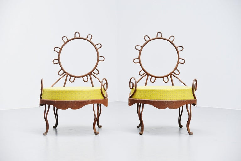 Italian Postmodern Garden Lounge Chairs, Italy, 1980 For Sale