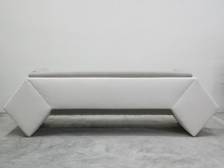 20th Century Postmodern Geometric Sofa and Chair with Ottoman Set by Thayer Coggin For Sale