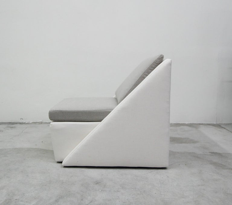 Postmodern Geometric Sofa and Chair with Ottoman Set by Thayer Coggin For Sale 2