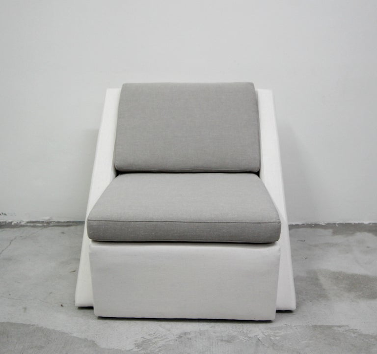 Postmodern Geometric Sofa and Chair with Ottoman Set by Thayer Coggin For Sale 3