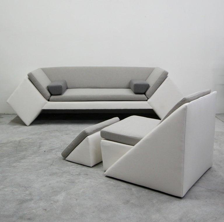 20th Century Postmodern Geometric Sofa by Thayer Coggin For Sale