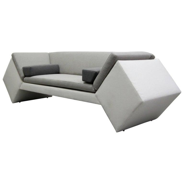 Postmodern Geometric Sofa by Thayer Coggin For Sale
