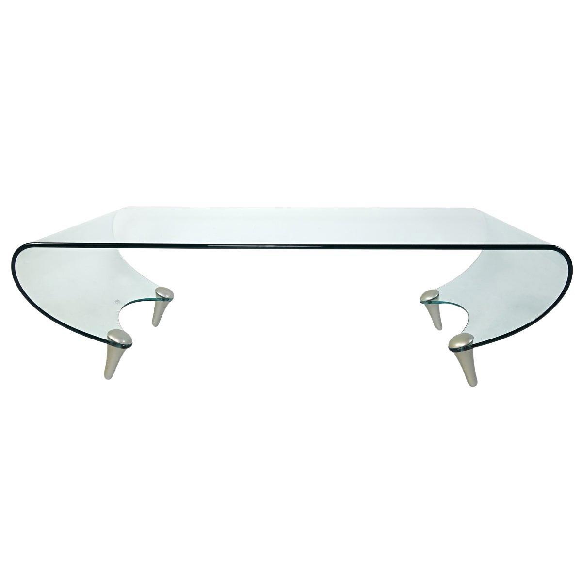 Postmodern Glass Coffee Table Tango by Fabio Di Bartolomei for Fiam Italia