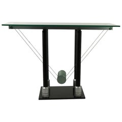 Postmodern Glass Top Console Attributed to Design Institute of America