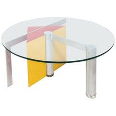 Postmodern Glass Top Table